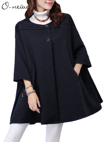 O-NEWE Elegant Warm Cloak Outwear For Women