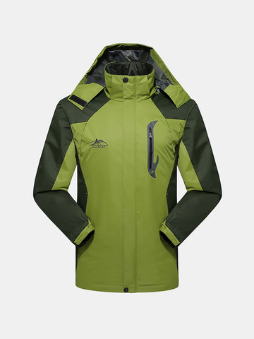Outdoor Water Resistant Climbing Breathable Sport Quickly Dry Hooded Jackets for Men