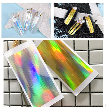 1Pc Nail Art Sticker Laser Silver Gold Stripe Line Tape UV Gel Line DIY Decoration Kit