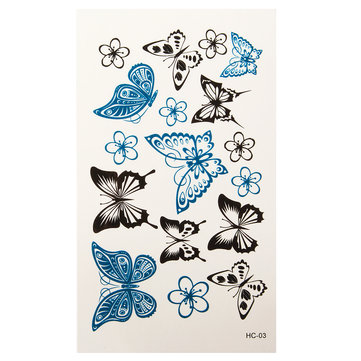 Butterfly Shaped Temporary Tattoo Sticker Waterproof Flash Paper Body Art