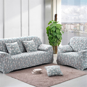 4 Size Stretch Flower Print Sofa Cover Lounge Couch Easy Removable  Slipcover Furniture Protector