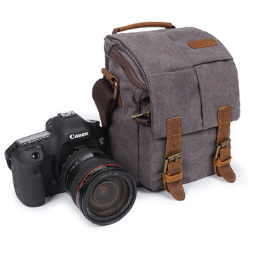 Canvas With Leather Casual Camera Bag Crossbody Bag For Men