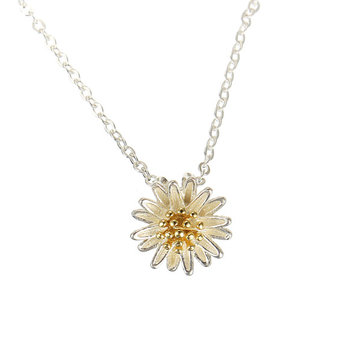S925 Sterling Silver Chrysanthemum Necklace