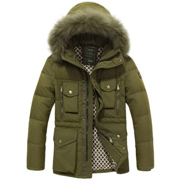Warm Fur Hooded Coat