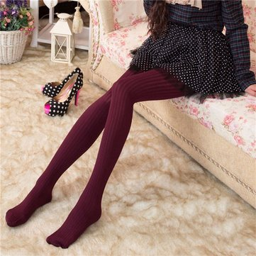 Women Winter Warm Leggings Slim Stretch Footed Tights Pants Pantyhose