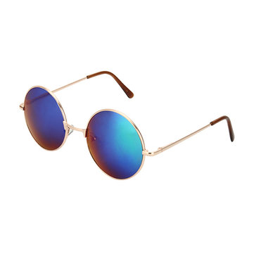 Luxury Colorful Lenses Hippie Shades Hippy Vintage Round Sunglasses