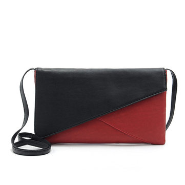 Contrast Hit Color Stitching Envelope Crossbody Bag Casual Shoulder Bag