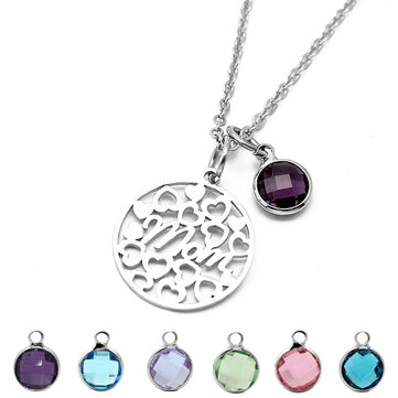 Colorful Birthstone Necklace Mom's Gift
