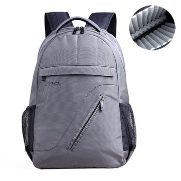 16 Inch Nylon Backpack Business Casual Airbag Shockproof Waterproof Laptop Bag For Men Women