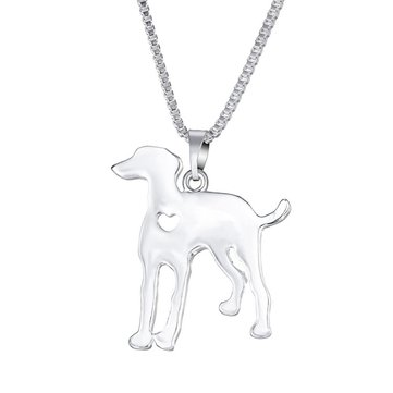 Trendy Cute Dog Dalmatian pendentif alliage femme collier