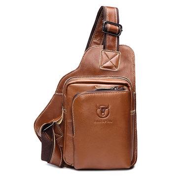 Мужчины Бизнес Натуральная Кожа Повседневный Outdoor Груди Crossbody Сумка Shoulder Bag