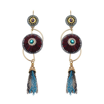 Casual Bohemian Earrings Gold Plated Unique Style Tassels Boho Ear Drop for Women Gift