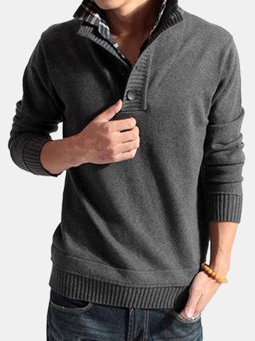 Мужские повседневные вязаные свитера Slim Warm Fashion с длинными рукавами Мужские топы