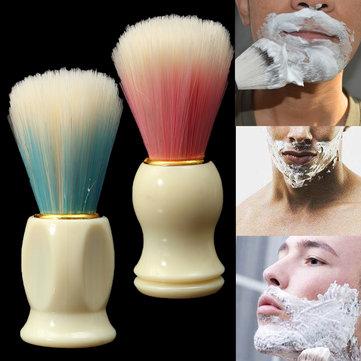 Мужская бритвенная щетка Пластиковая ручка Борода крем для бритья Мыло Пена для волос