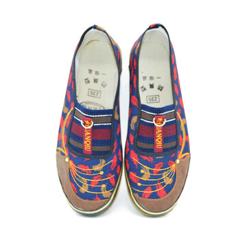 Feather Canvas Slip On Stripe Loft Flat Casual para Mulheres