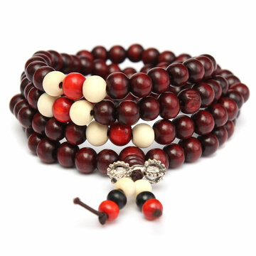 108Pcs 8mm Sandalwood Buddha Beads Necklace Bracelet