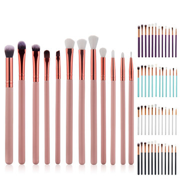 12Pcs Eye Makeup Brushes Nylon Eyeshdow Eyeliner Face Powder Foundation Cosmetics Brush Set