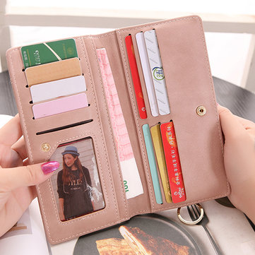 Candy Color Multi-slots Long Wallet