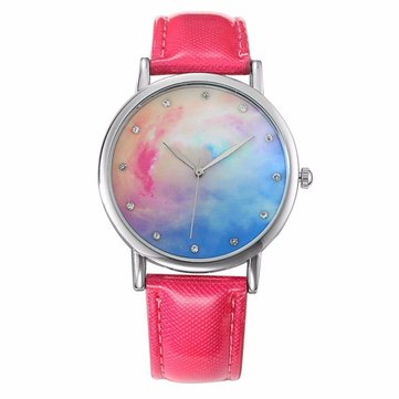 Trendy Star Moon Series Leather Watch