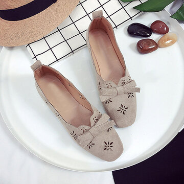 Hollow Low Cut Uppers Flat Loafers
