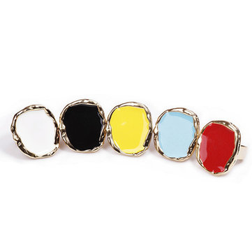 Irregular Candy Colorful Sweater Ring