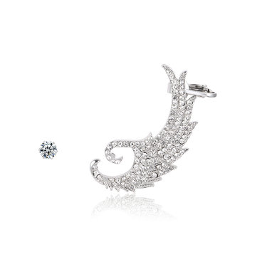 Luxury Ear Cuff Full Rhinestone Wing Earrings