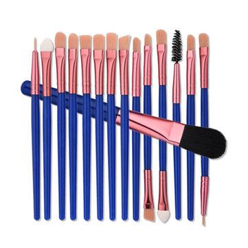 15pcs Pinceaux de maquillage professionnels Blush Foundation Eyehadow Eyeliner Kit de brosse à lèvres