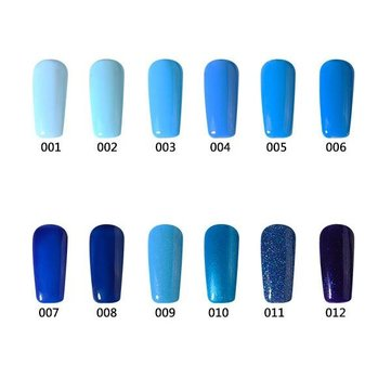12 Colors Nano UV Gel Polish Blue Color System Dreamlike Soak-off Nail Charming 12ml