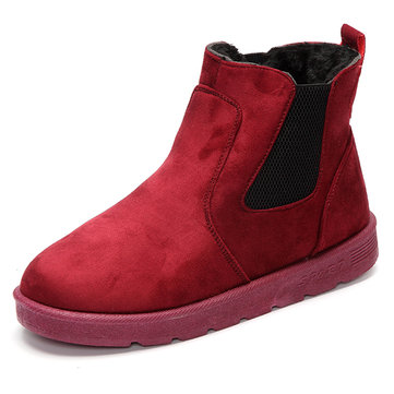 Winter Plush Keep Warm Slip On Casual Outdoor Snow Short Boots