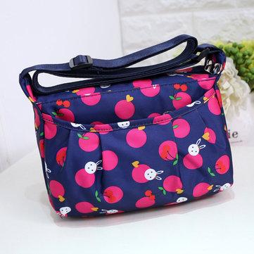 Women Casual Nylon Geometric Figure Pattern Multi-pocket Lightweight Shoulder Bags Crossbody Bags