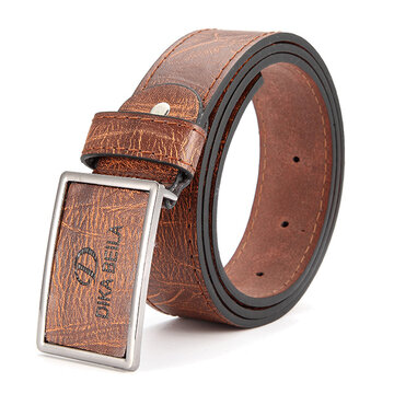 Men's Business PU Leather Alloy Needle Buckle Belts Casual Pin Buckle Belt Homme Cinto Masculino