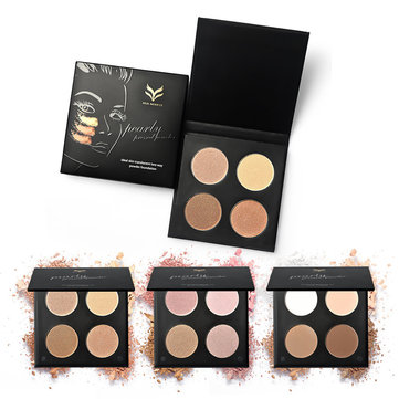 4-Color Nude Eyeshadow Palette Makeup Shimmer Matte Highlighter Powder Professional