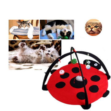 Pet Cat Bed Toys Mobile Activity Playing Bed Pad Blanket House Pet Furniture Tent Toys