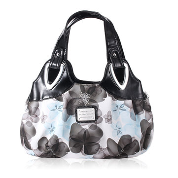 Women Floral PU Leather Handbags Casual Fashion Tote Shoulder Bags