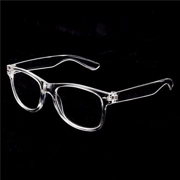 Men Women Eyeglass Frame Vintage Transparent Glasses Retro UV400 Plain Lens Optic