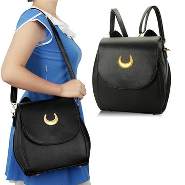 Ladies Moon Print Casual Crossbody Bag Sailor Moon Leisure Backpack Retro Shoulder Bag