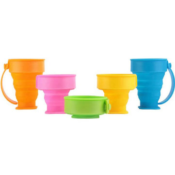 Multifunction Outdoor Portable Folding Water Cup Creative Travel Cup Silicone Folding Cup