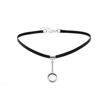 Punk Women's Necklace Circle Pendant Cotton Necklace