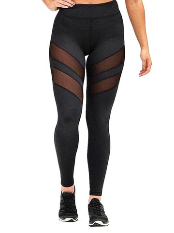 Sexy Mesh Patchwork Stretch Active Leggings