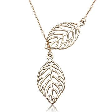 Золотое серебро покрыло ожерелье с двумя листами