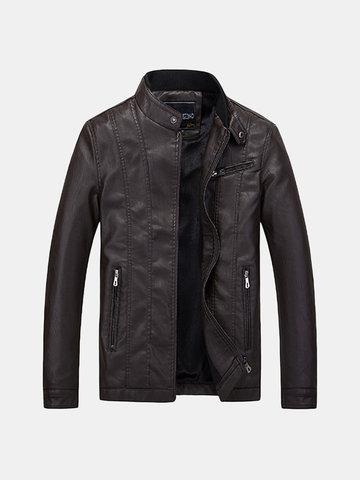 Куртка из искусственной кожи Biker толщиной