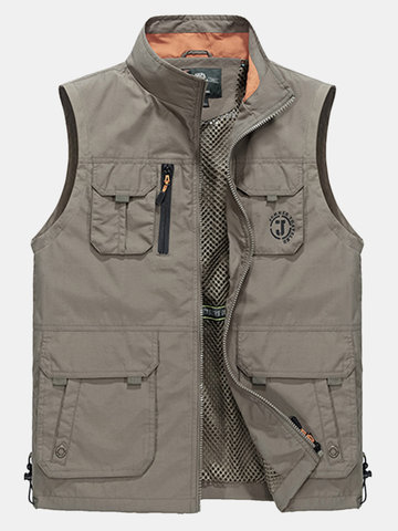 Plus Size Outdoor Sport Water Repellent Thin Loose Fishing Vest for Men