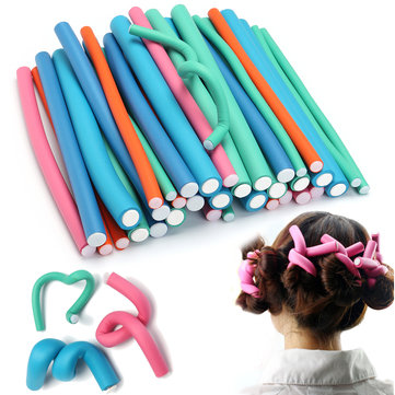 36Pcs Curly Sponge Hair Sticks