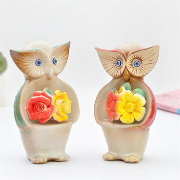 Creative Ceramic Owl Ornament Hand-painted Relief Living Room Home Office Decor Handicrafts