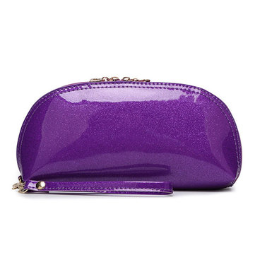 Women PVC Cosmetic Bag Toiletry Bag Casual Bright Clutches Bag
