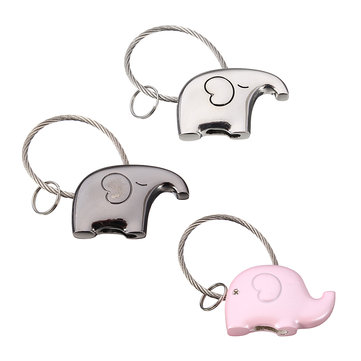 Laser Engraving Thai Mini Elephant Lovers Keychain