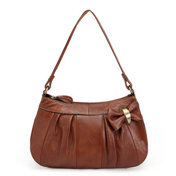 Genuine Leather Casual Vintage First Layer Of Leather Single-shoulder Crossbody Bag For Women