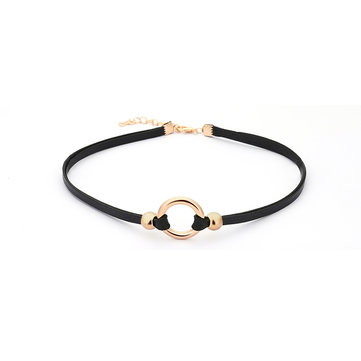 Punk Women's Necklace Dacron Circle Clavicle Neckalce