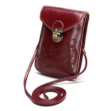Женщины Конфетные Цветы Цветочные Crossbody Сумки 6дюймов Phone Bag Портативные Наплечные Сумки