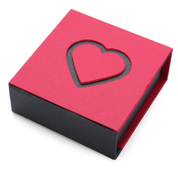 Heart Shaped Paper Gift Storage Box